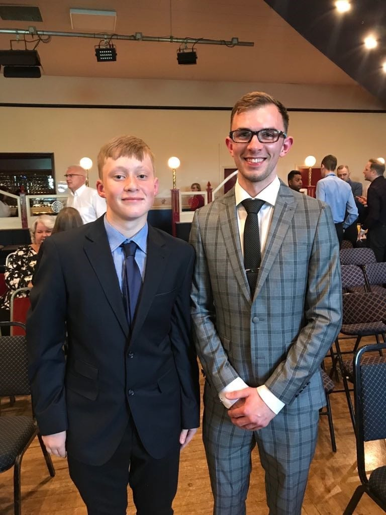 Jamie and Cliff at Awards Evening